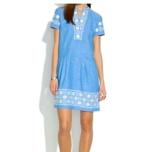 Madewell embroidered denim dress